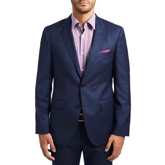 Hugo Boss Men's Navy Blue C-Jeffrey Suit Jacket